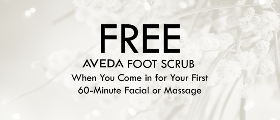 Free Foot Scrub - When You Come in for Your First 60-Minute Facial or Massage